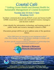 Coastal Cafe Flyer - The Oceans and Human Health Initiative - NOAA