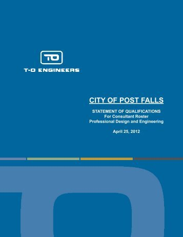 T-O Engineers - City of Post Falls