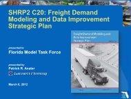 Freight Demand Modeling and Data Improvement ... - FSUTMSOnline
