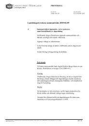 Dagordning - Landstinget Sörmland