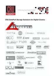 CRU-DataPort Digital Cinema Product Guide - Storesys