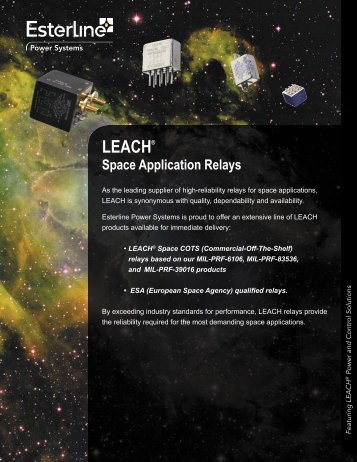 LEACH Space Application Relays - Esterline