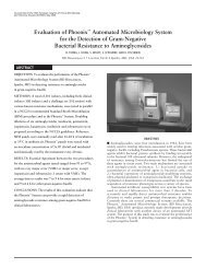Evaluation of Phoenix™ Automated Microbiology System for the - BD