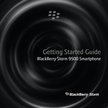 BlackBerry Storm 9500 Smartphone - Getting Started Guide