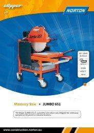 Masonry Saw JUMBO 651 - Norton Construction Products
