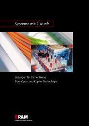 PDF Datei: Broschüre / R&M / Carrier Cabling Broschüre