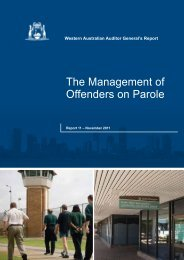 The Management of Offenders on Parole - Parliament of Western ...