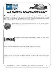6-8 ENERGY SCAVENGER HUNT - COSI
