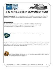 9-12 Force & Motion SCAVENGER HUNT - Cosi