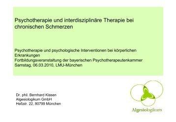 Vortrag von Dr. Klasen - PTK Bayern