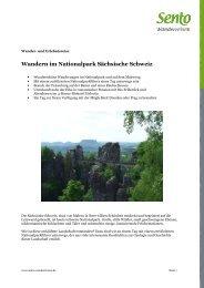 Wandern im Nationalpark Sächsische Schweiz - Tagwerk
