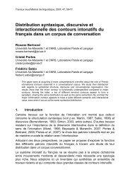 Les relations oral-crit en L1 et en L2 - Laboratoire Parole et Langage