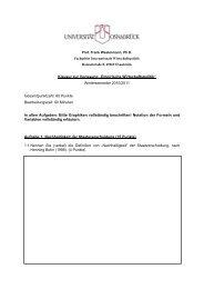 Klausur WS 10/11 - Internationale Wirtschaftspolitik