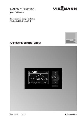 Reglage Vitotronic 200682 KB - SATAG