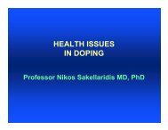 HEALTH ISSUES IN DOPING - World Anti-Doping Agency