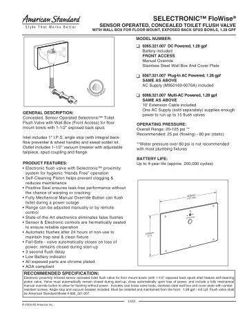 sloan repair parts and maintenance guide