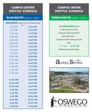 BLUE SHUTTLE SCHEDULE- Monday through Friday - UPMC com