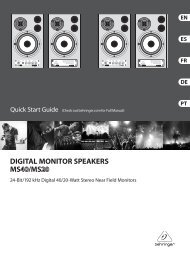DIGITAL MONITOR SPEAKERS MS40/MS20 Controls - Gear4Music