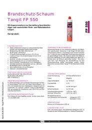 Tangit FP 550 2K-Brandschutz-Schaum - Walraven