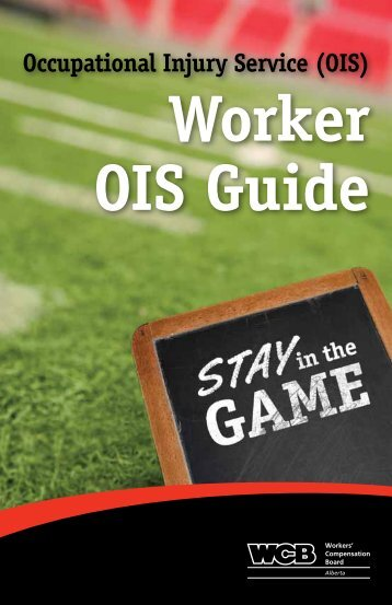 Occupational Injury Service Worker Guide - Workers' Compensation ...