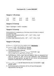Fasit kjemi-OL 1. runde 2006/2007 Oppgave 1 (30 poeng) 1) C 2) B ...