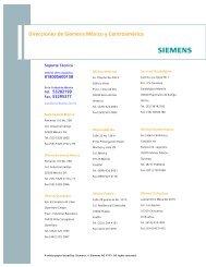 Direcciones de Siemens México y Centroamérica - Industria de ...