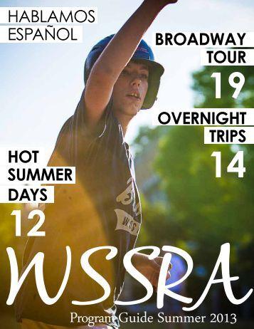 Program Guide Summer 2013 - WSSRA