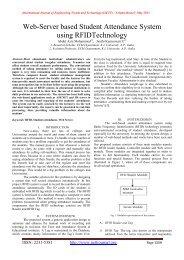 Web-Server based Student Attendance System using RFIDTechnology