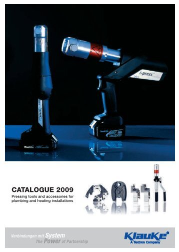 CATALOGUE 2009 - Gustav Klauke GmbH