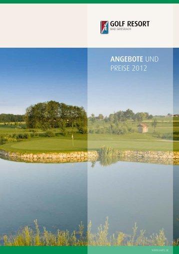 ANGEBOTE und PREISE 2012 - Bad Griesbach
