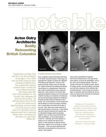 Acton Ostry Architects: Boldly Reinventing British ... - Vectorworks