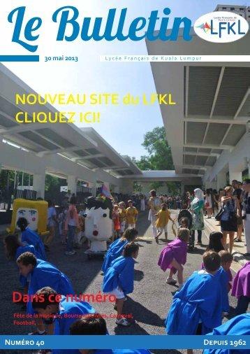 Bulletin du 30/05/13 - Lycée Français Kuala Lumpur