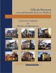 Zone patrimoniale charte des couleurs et details - Ville de Bromont