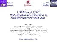 lofar - Swedish Institute of Space Physics - Uppsala