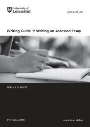Writing Guide 1: Writing an Assessed Essay - University of Leicester
