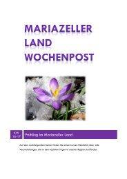 Mariazeller Wochenpost KW 16-17 - Mariazellerland Blog