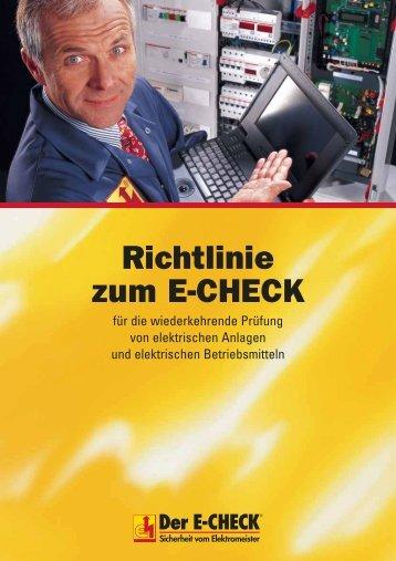E E-CHECK Richtlinien 1005 - Ehret