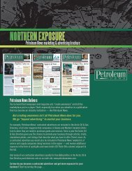 ad rate and benefits brochure. - for Petroleum News