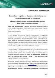 Kaspersky Lab Press release ataques móveis