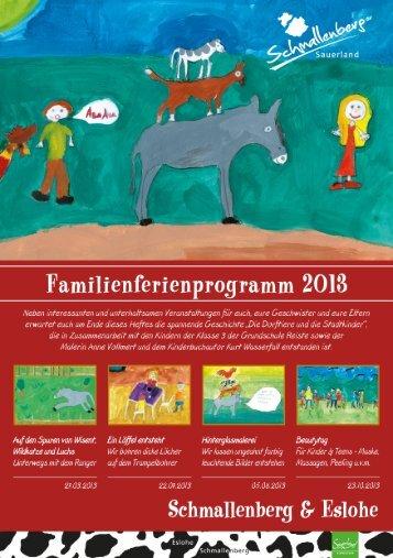 Download Familienferienprogramm 2013 - Schmallenberg