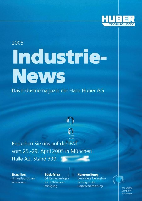 Industrie Report, Ausgabe 2005, deutsch - Hans Huber AG