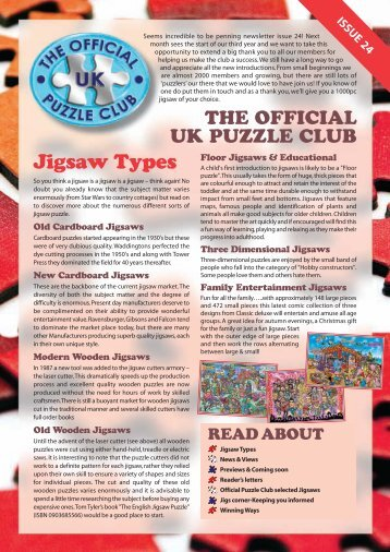 Jigsaws and Puzzles Newsletter Issue 24 - Jigsaw Puzzles