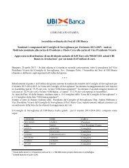 COMUNICATO STAMPA Assemblea ordinaria dei Soci di UBI Banca ...