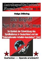 337 Döhring, Helge - Der Begriff Syndikalismus