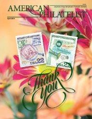 April 2013 - American Philatelic Society
