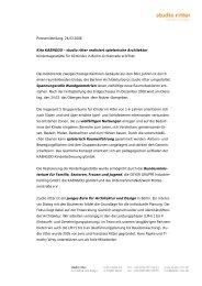 Pressemitteilung, 24.03.2008 Kita KAENGOO – studio ritter realisiert ...