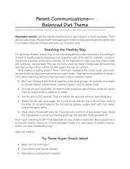 Parent Communications— Balanced Diet Theme - Harvard School ...