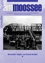 Wirtschaft «Utiger» von Brand zerstört - Moosseedorf