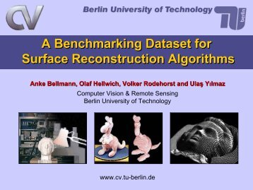 A Benchmarking Dataset for Surface ... - Rodehorst.info
