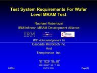 Test System Requirements For Wafer Level MRAM Test